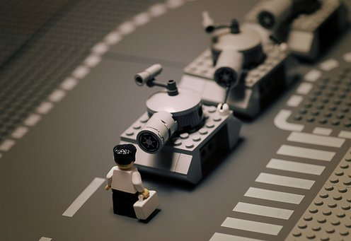lego tank man