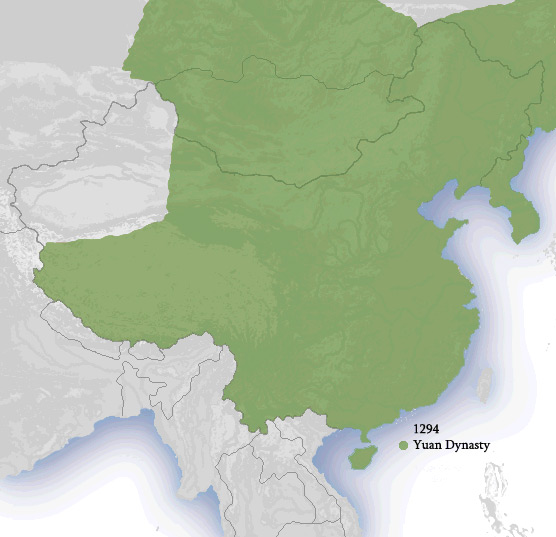 dinastia yuan territori