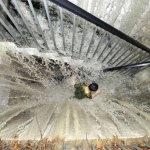Le immagini surreali delle inondazioni in Cina