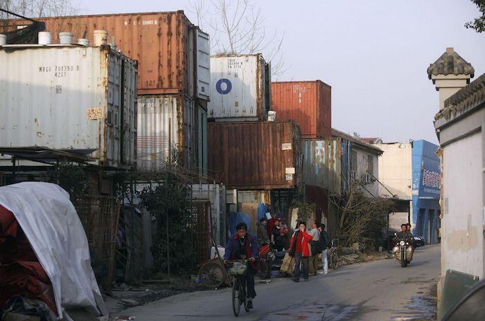 case container per i migranti in Cina