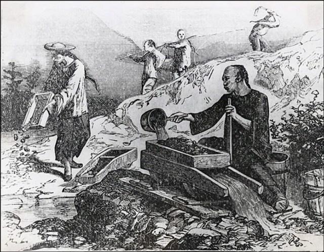 I cinesi non furono immuni alla febbre dell'oro.