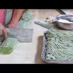 L'abilità richiesta per fare gli spaghetti cinesi