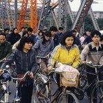 Al lavoro. Il traffico sul ponte Haizhu di Guangzhou.