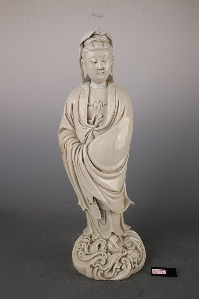 Statuina di Guanyin in piedi.Repertorio delle fornaci di Dehua