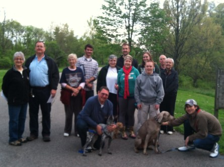 Conservationists gathering at Mt. Airy with Matt