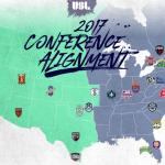 USL Announces 2017 Conference Alignment