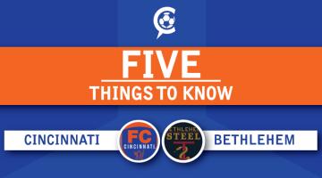 FC Cincinnati at Bethlehem Steel FC Round 2: 5 Things to Know