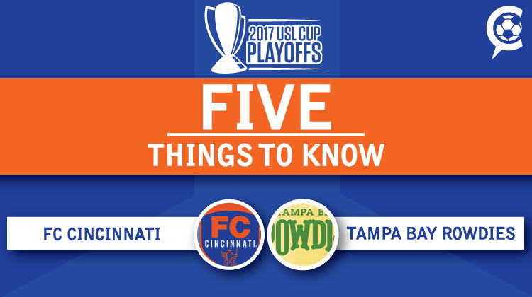 USL Playoffs: FC Cincinnati at Tampa Bay Rowdies: 5 Things to Know