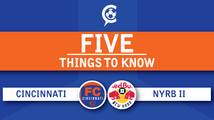 FC Cincinnati vs. New York Red Bulls II:  5 Things to Know