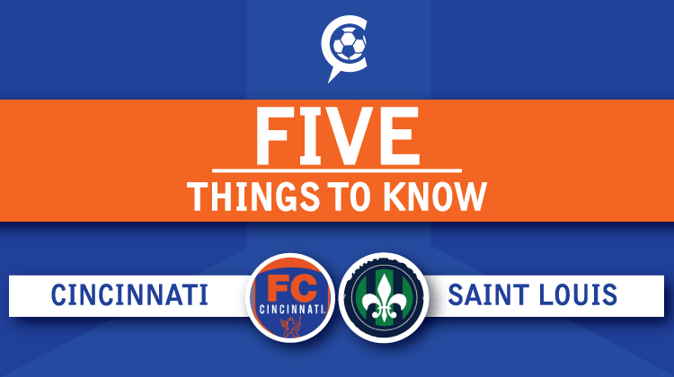 FC Cincinnati vs. Saint Louis FC: 5 Things to Know Round 2