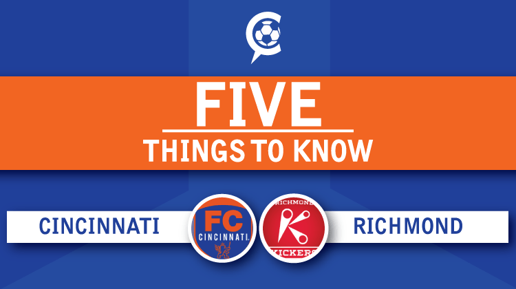 FC Cincinnati at Richmond Kickers: 5 Things to Know