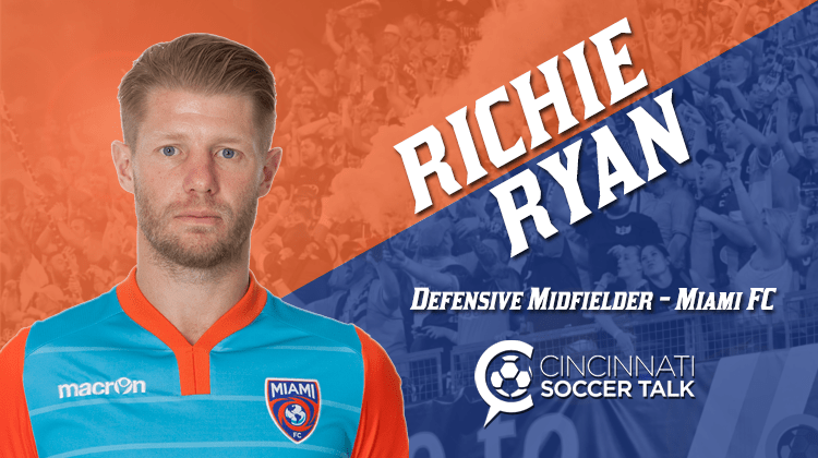 FC Cincinnati Ink NASL Best XI Midfielder Richie Ryan