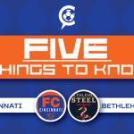 FC Cincinnati at Bethlehem Steel FC – 5 Things to Know