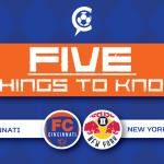 5 Things to Know: FC Cincinnati vs New York Red Bulls II