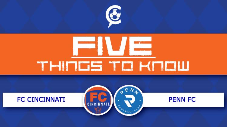 5 Things to Know: FC Cincinnati at Penn FC