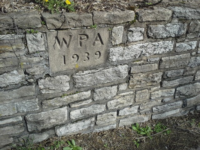 Wall in Eden Park made by the Works Progress Administration Photo: Justin Jeffre