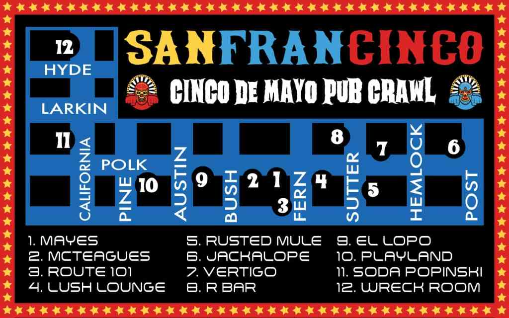 San Francisco Cinco De Mayo Pub Crawl Bars