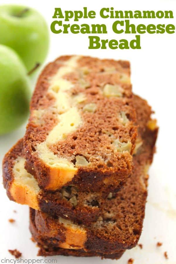 Apple Cinnamon Cream Cheese Bread - CincyShopper
