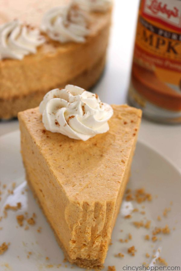 No Bake Pumpkin Cheesecake Super Easy Fall And Holiday Dessert That Looks
