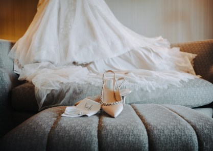 bridal details with shoes
