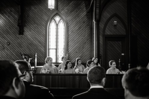 wedding party in old church