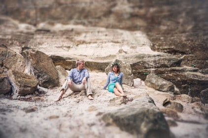 beach engagement session starved rock