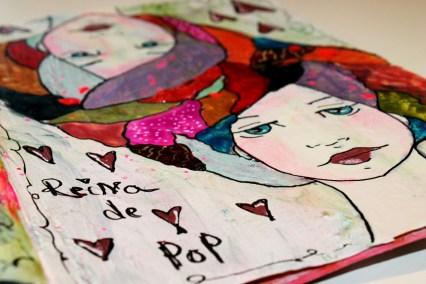 Reina de Corazones Pop - tutorial artjournal 8