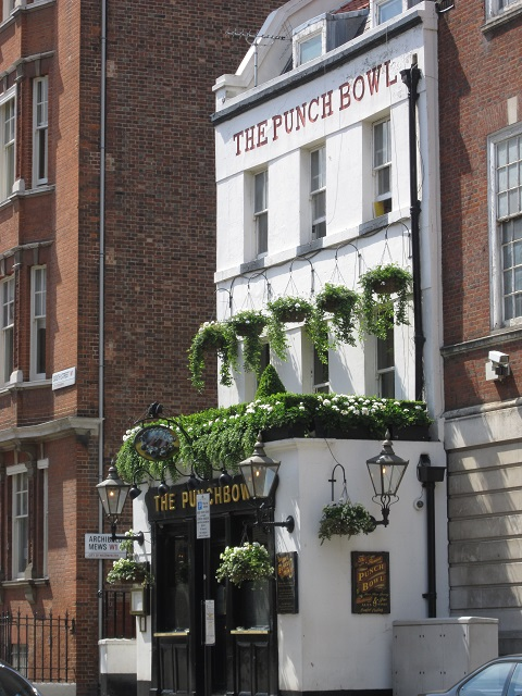 The Punch Bowl pub facade