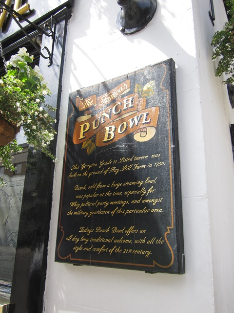The Punch Bowl pub sign