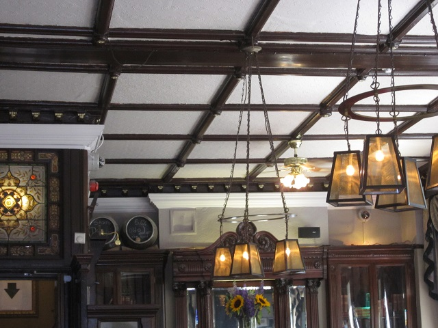ceiling of the Museum Tavern