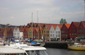 Bryggen from across the harbor