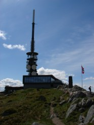 looking back towards the restaurant on top of Ulriken - June 4, 2009
