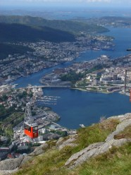 Ulriken cable car and Bergen - one of my favorite photos! - June 4, 2009, 12:24 pm