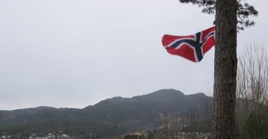 Norwegian flag December 27, 2013