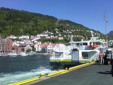 June 6, 2010 - our boat docked in Bergen