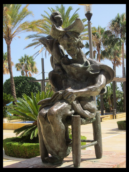 August 14, 2014 - Salvador Dali on Marbella's Avenida Del Mar