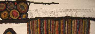 hit and miss border on a hooked rug