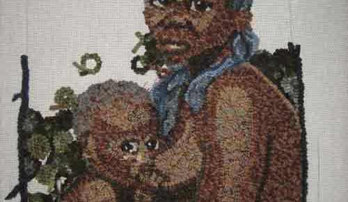 Rug Hooking Some Background on Woman with Baby