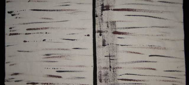 Birch bark rug hooking wool