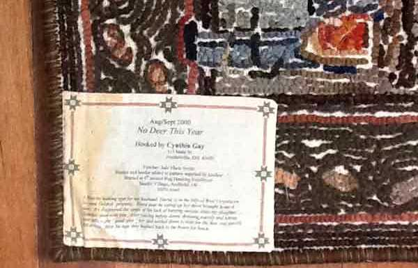Don T Miss The Last Step Label Your Rugs Cindi Gay Rug Hooking
