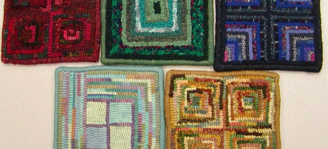 Hooked Rug Gallery: Beginner Square