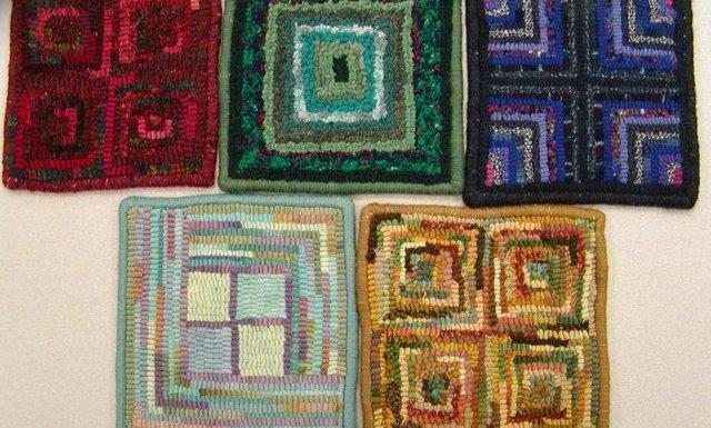 Hooked Rug Gallery: Beginner Square