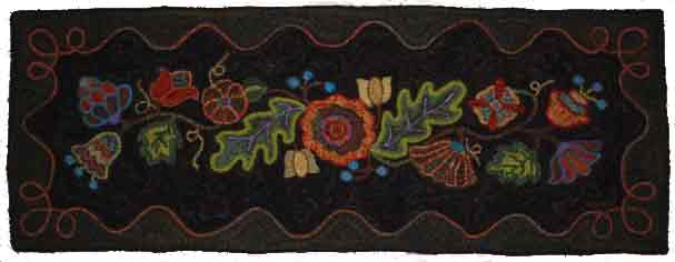 Hooked Rug by Patty Van Arsdale