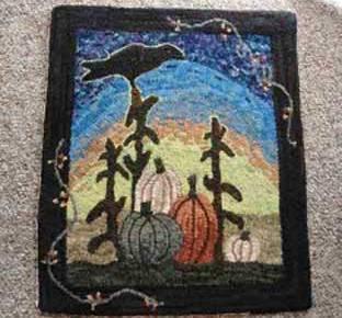 Mala Jones pumpkin rug