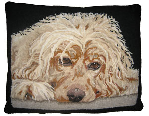 "Hooked Pillow ""Samson"" by Cindi Gay"