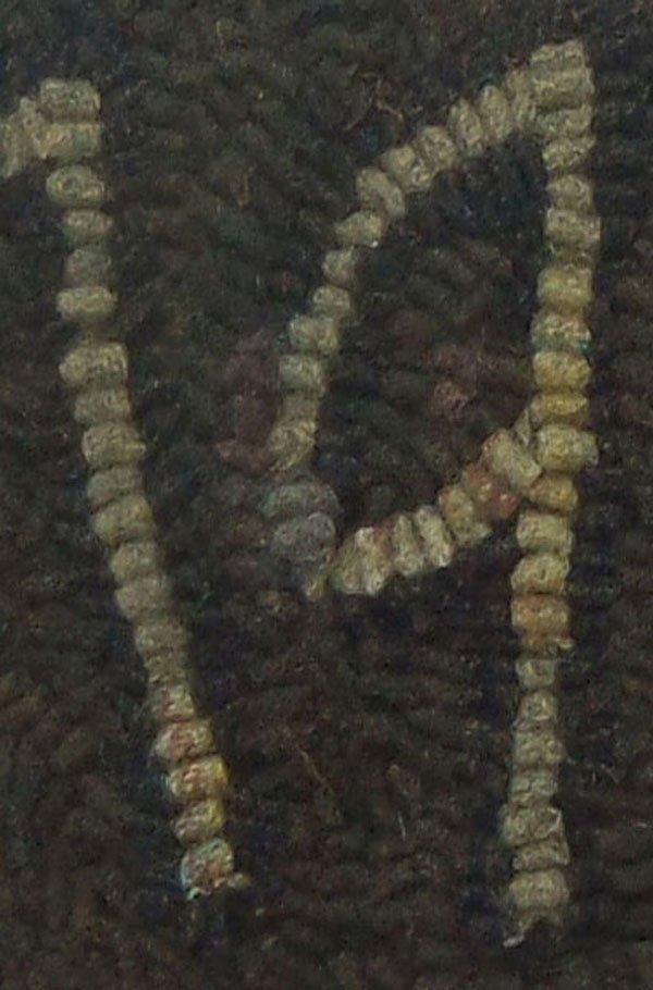 closeup of rughooking