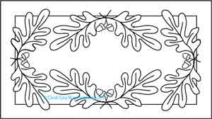 Oak and Acorn rughooking pattern