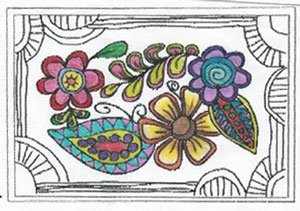 Color plan for Floral Tangle