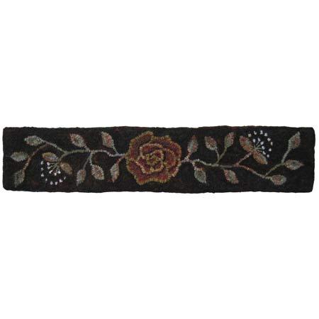 Kentucky Rose Queen stair riser rug hooking pattern