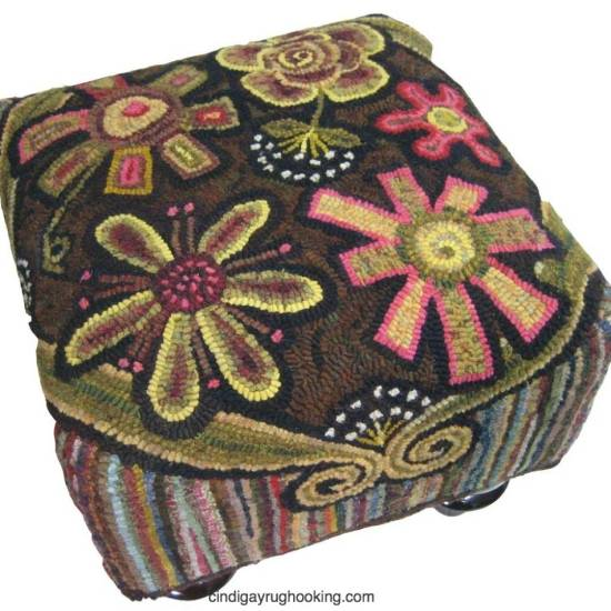 Annie's Flower Power Footstool - Square
